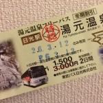 日光-東武日光バスのフリーパス