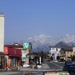 日光-東武日光駅前から見える山