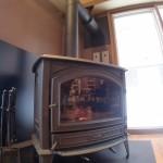 ウェイティングルームの暖炉