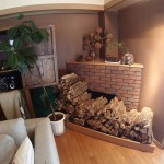 ウェイティングルーム暖炉用の薪