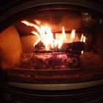 温かい暖炉