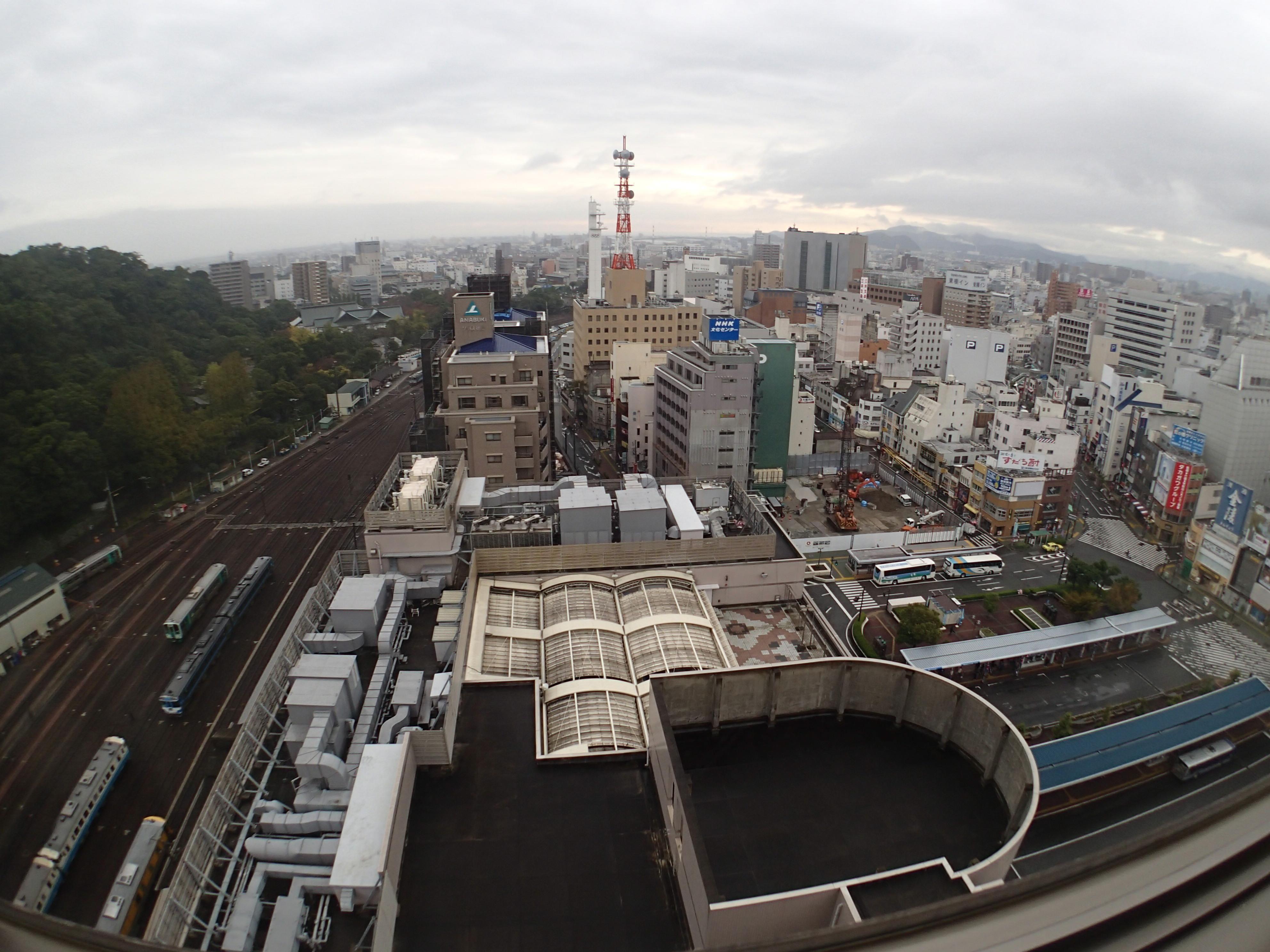 クレセントホテル徳島からの眺め