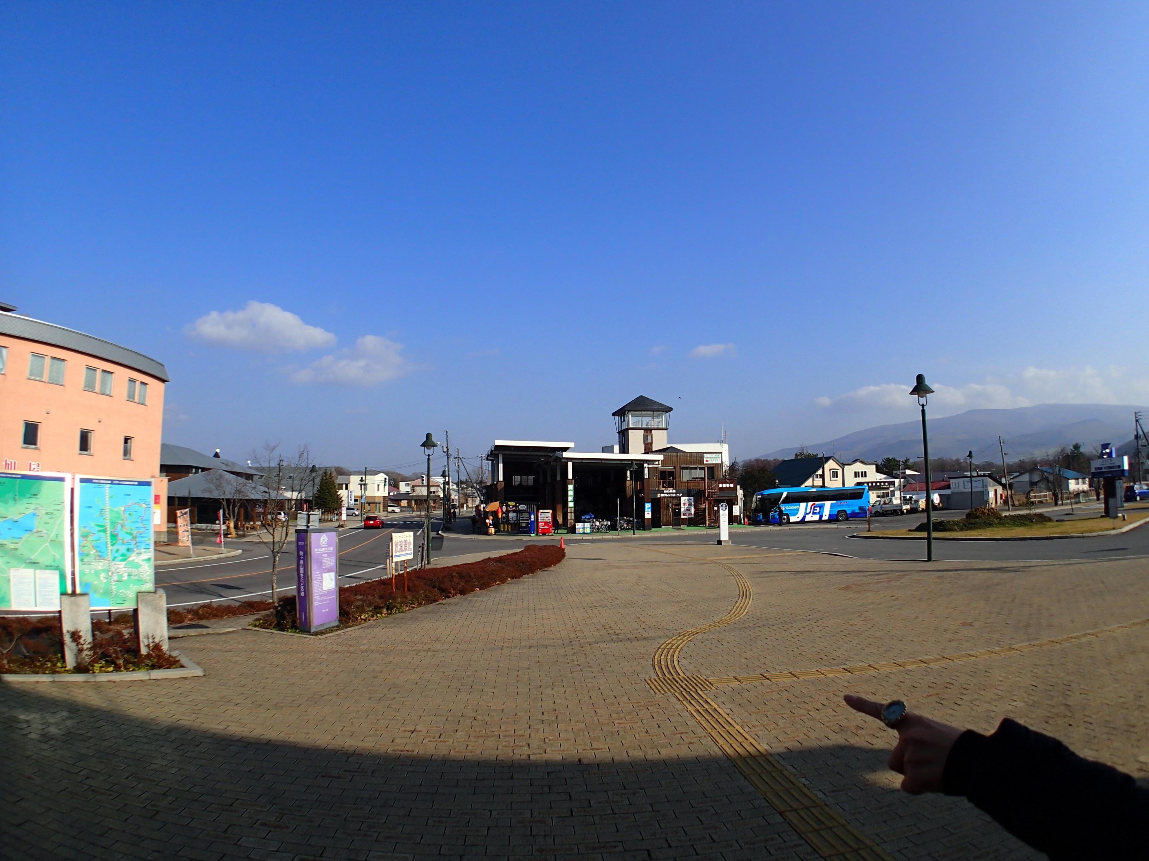 大沼公園駅前